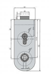 Broasca Dorma Studio Rondo pentru cilindru usa sticla 8-10 mm3