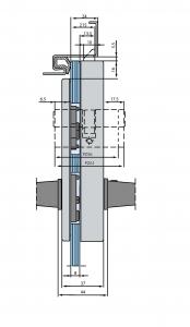 Broasca Dorma Studio Rondo pentru cilindru usa sticla 8-10 mm4