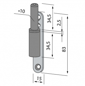 Pivot toc lemn/metalic Dorma1