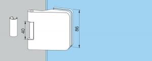 Balama aplicata Dorma Junior Office usa sticla 8-10 mm [1]