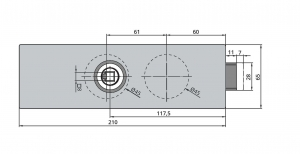 Broasca Dorma Arcos Studio fara incuiere usa sticla 8-10 mm4