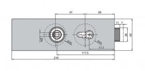 Broasca Dorma Arcos Studio pentru cilindru usa sticla 8-10 mm2