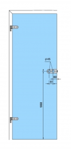 Broasca Dorma Arcos Studio pentru cilindru usa sticla 8-10 mm4