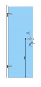 Broasca Dorma Arcos Studio pentru baie usa sticla 8-10 mm4