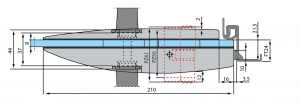Broasca Dorma Arcos Studio pentru baie usa sticla 8-10 mm3