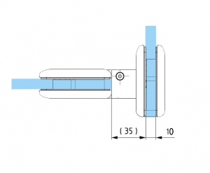 Balama hidraulica Biloba cu amortizare incorporata sticla/sticla3