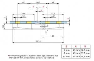 Balama hidraulica cabina dus sticla/sticla Bilobina1