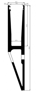 Profil U balustrada tip Y View Crystal fixare laterala [1]