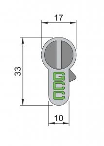 Cilindru baie broasca usa sticla 8-10 mm1