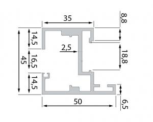 Toc Dorma Alexa 45 usa sticla 8-12 mm1