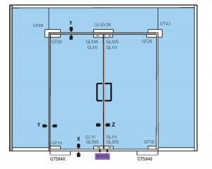 Contraplaca incuietoare de colt (pardoseala)2