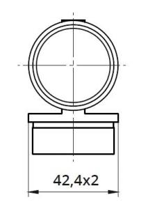 Imbinare variabila ±90° mana curenta rotunda Ø42,4 mm [1]