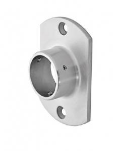 Flansa ovala fixare perete mana curenta rotunda Ø42,4 mm0