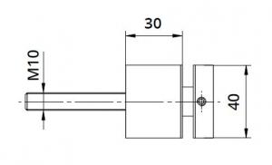 Conector sticla patrat 40x40/30 mm [1]