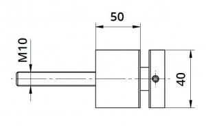 Conector sticla patrat 40x40/50 mm1