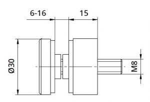 Conector sticla Ø30x15 mm1