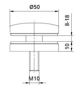Conector sticla Ø50x10 mm [1]