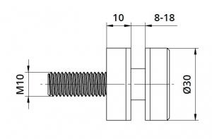 Conector sticla Ø30x10 mm [1]