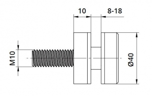Conector sticla Ø40x10 mm1
