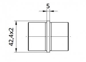 Imbinare 180° mana curenta rotunda Ø42,4 mm [1]