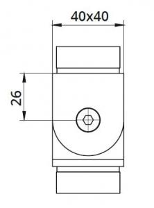 Imbinare variabila ±90° mana curenta patrata 40x40 mm1