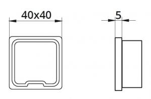 Capac capat mana curenta patrata 40x40 mm1