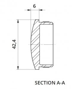 Capac capat semirotund mana curenta rotunda Ø42,4 mm1
