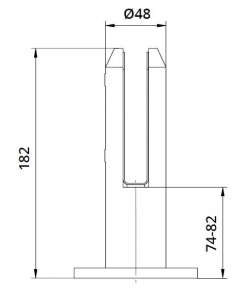 Prindere punctuala rotunda pardoseala Ø48 mm [1]