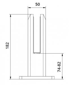 Prindere punctuala patrata pardoseala 50x50 mm1