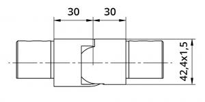 Imbinare variabila in coborare 25°-55° mana curenta profilata Ø42,4 mm1