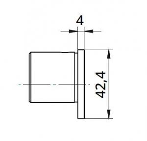 Capac capat mana curenta profilata Ø42,4 mm1