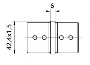 Imbinare 180° mana curenta profilata Ø42,4 mm1