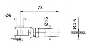 Piesa capat fixare cablu pentru montant balustrada [1]