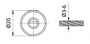 Piesa blocare cablu Ø3-6 mm pentru montant balustrada1