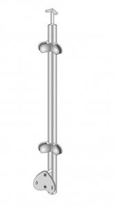 Montant colt exterior rotund echipat pentru sticla fixare pe laterala [0]