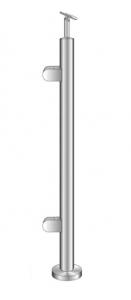Montant de capat rotund echipat pentru sticla fixare pe pardoseala [0]