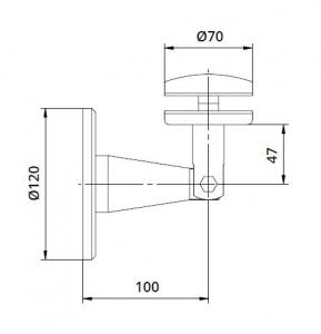 Conector copertina inferior perete/sticla 8-17,52 mm [1]