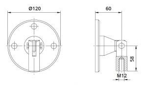 Conector superior perete/tija copertina [1]