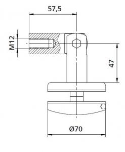 Conector copertina tija/sticla 8-17,52 mm [1]