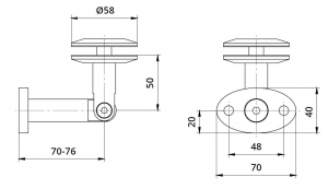 Conector copertina inferior perete/sticla 8-17,52 mm1