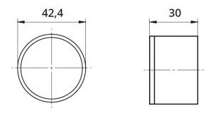 Capac capat mana curenta din lemn Ø42,4 mm1