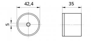 Conector mana curenta din lemn Ø42,4 mm1