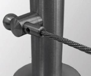 Piesa capat fixare cablu pentru montant balustrada [0]