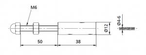 Piesa capat fixare cablu pentru montant balustrada1