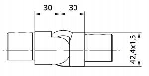 Imbinare variabila in urcare 25°-55° mana curenta profilata Ø42,4 mm1