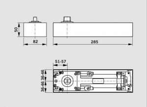 Amortizor pardoseala Dorma BTS 75V EN 1-4 cu placa si insert standard/blocaj la 90º1
