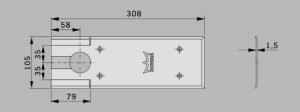 Amortizor pardoseala Dorma BTS 75V EN 1-4 cu placa si insert standard/blocaj la 90º2