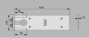 Amortizor pardoseala Dorma BTS 80 EN 4 cu placa si insert standard2
