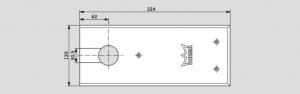 Amortizor pardoseala Dorma BTS 84 EN 3 cu placa si insert standard/blocaj la 90º2