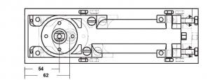 Amortizor pardoseala deschidere max 180° EN 1-4 8460 V2